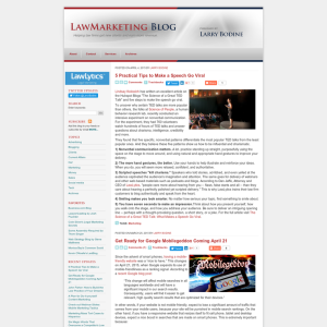Larry Bodine Law Marketing Blog