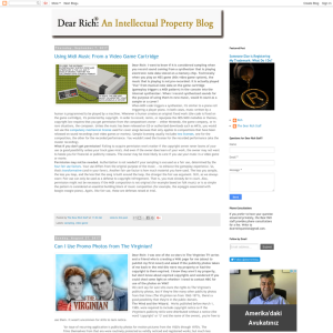 Dear Rich: An Intellectual Property Blog