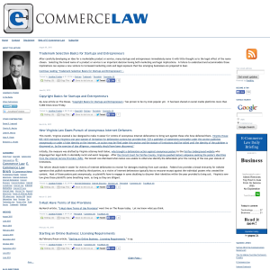 E-Commerce Law Blog