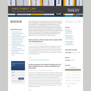 Sidley Employment Law Blog