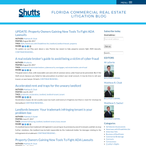 Florida Commercial Real Estate Litigation Blog