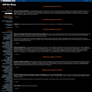 Hipaa Blog
