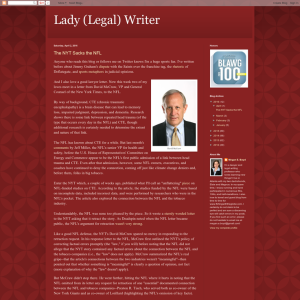 Lady (Legal) Writer