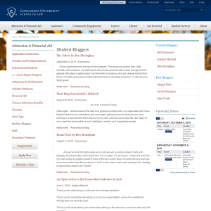 Student Bloggers | Concordia University