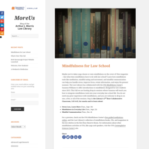 MoreUs University of Virginia Law Library Blog
