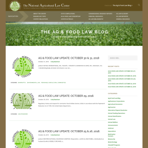 Food and Agriculture Law Blog