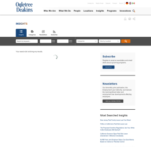Ogletree Deakins Insights