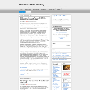 The Securities Law Blog