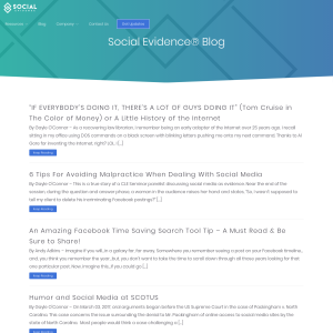 Social Evidence Blog
