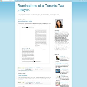 Tax Ruminations