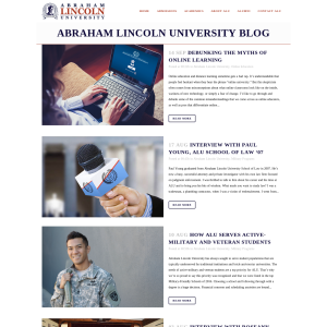 Abraham Lincoln University Blog