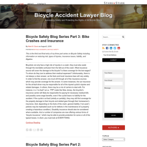 Bicycle Accident Lawyer Blog