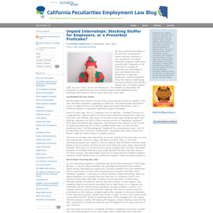 California Peculiarities Employment Law Blog