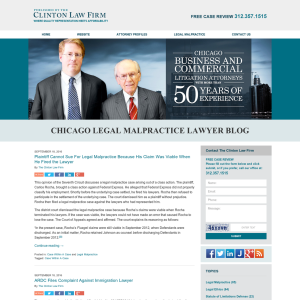 Chicago Legal Malpractice Lawyer Blog