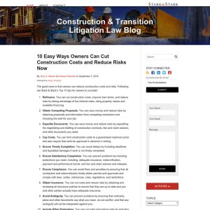 Construction & Transition Litigation Law Blog