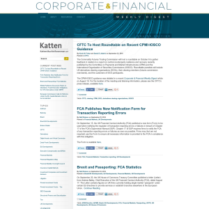 Corporate & Financial Weekly Digest
