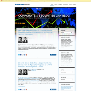 Corporate & Securities Law Blog