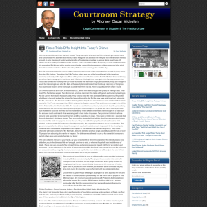 Courtroom Strategy by Attorney Oscar Michelen