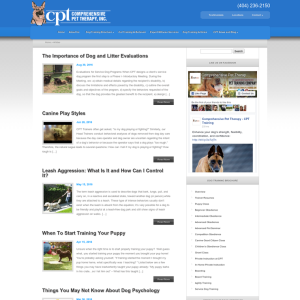 Comprehensive Pet Therapy and Dog Training Blog