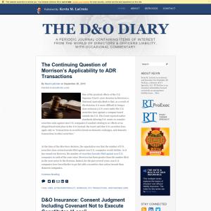 The D&O Diary