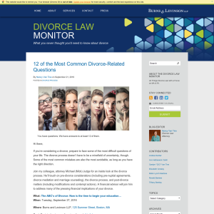 Divorce Law Monitor