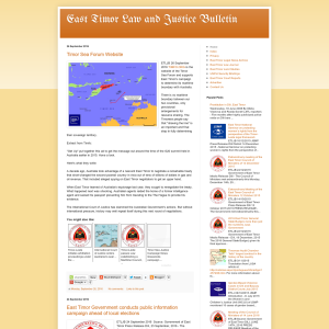 East Timor Law and Justice Bulletin