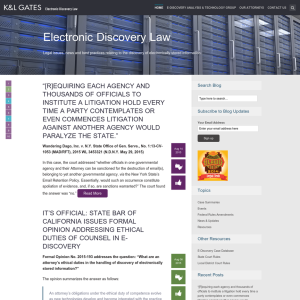 Electronic Discovery Law