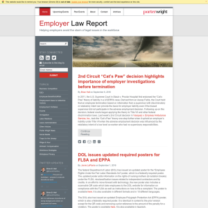 Employer Law Report