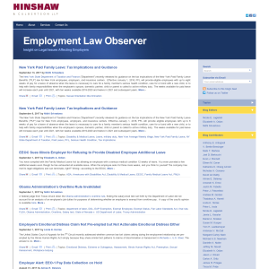 Employment Law Observer
