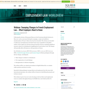 Employment Law Worldview