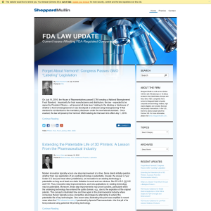 FDA Law Update Blog