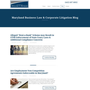 Maryland Business Law & Corporate Litigation Blog