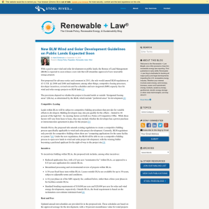 Renewable + Law