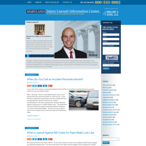 Maryland Injury Lawsuit Information Center