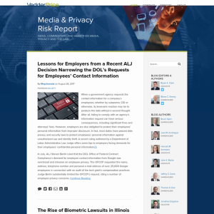 Media and Privacy Risk Report