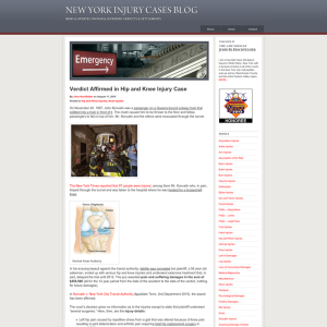 New York Injury Cases Blog