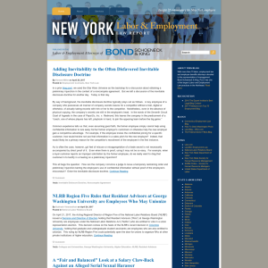 New York Labor And Employment Law Report