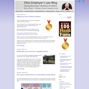 Ohio Employer's Law Blog : Ohio Employment Law