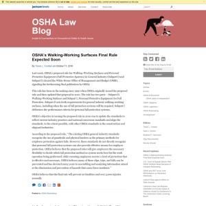 OSHA Law Blog