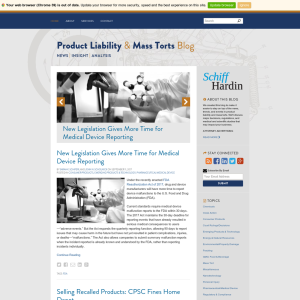 Product Liability and Mass Torts Blog