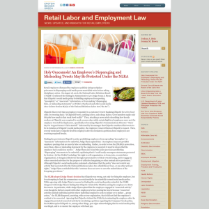 Retail Labor and Employment Law