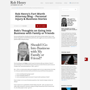 Rob Henry's Fort Worth Attorney Blog