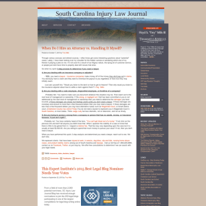 South Carolina Injury Law Journal