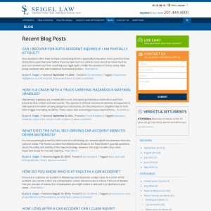 New Jersey Personal Injury & Medical Malpractice Law Blog