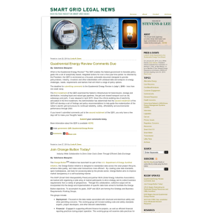 Smart Grid Legal News