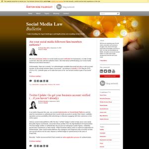 Social Media Law Bulletin