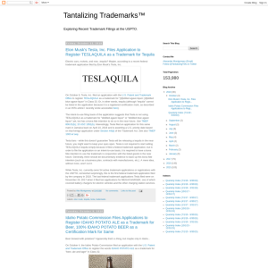Tantalizing Trademarks