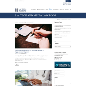 Entertainment & Technology Law Blog