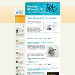 Trademark and Copyright Law