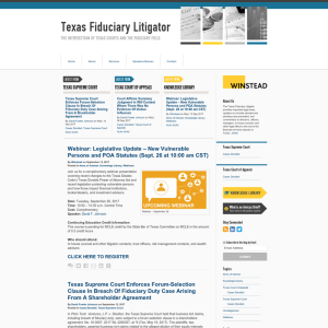 Texas Fiduciary Litigator